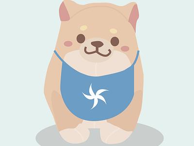 Cute Mochi Shiba Inu Dog stuffed animal cute dog shibainu illustration art graphicdesign graphic design graphic illustration illustration figma