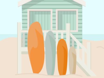 Surf Shack surf summertime summer graphicdesign illustration art graphic illustration graphic design illustration figma