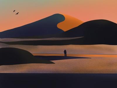 The Martian sunset exotic martian explorer alien procreate graphicdesign illustration art graphic illustration graphic design illustration landscape design landscape