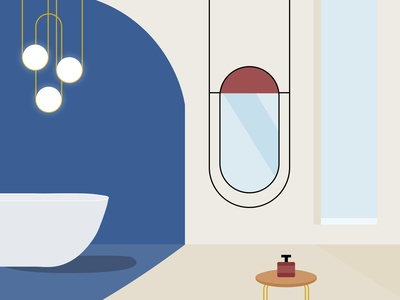 Bathroom Decor Vector interiordesign bathroom interior design interior decor interior illustration art graphic illustration graphic design illustration figma