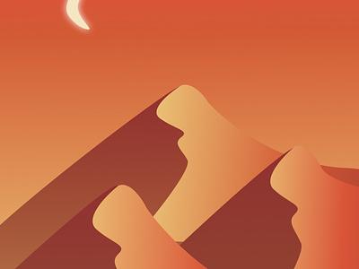 Sahara Nights sunset desert vector art design illustration art graphic illustration graphic design illustration figma