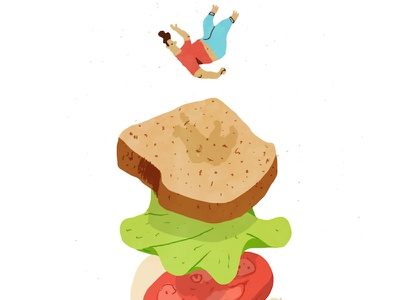The Sandwich King illustration fun sandwich