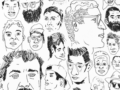 Boys illustration drawing pen pencil bw