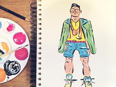 Paintin' Sketchbook painting illustration gouache color fashion