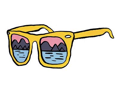 Shades illustration ink color sunglasses tshirt