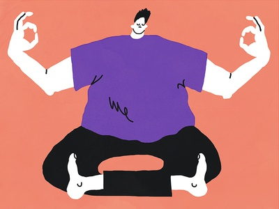 Current Mood illustration figure graphic screenprint simple meditation
