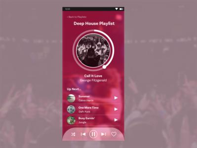 Music Player design dailyuichallenge dailyui sketch 009