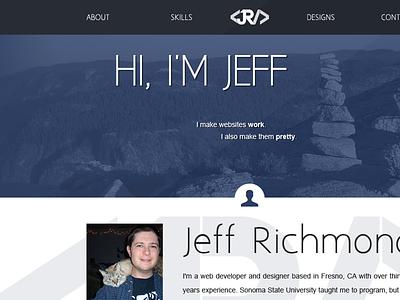 One Page Resume Site debut web design one-page resume portfolio website