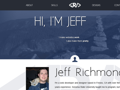 One Page Resume Site debut web design one-page resume portfolio website
