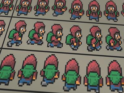 2D Pixel Animation Sprites video game pixels sprite pixel art game sprites animation 2d