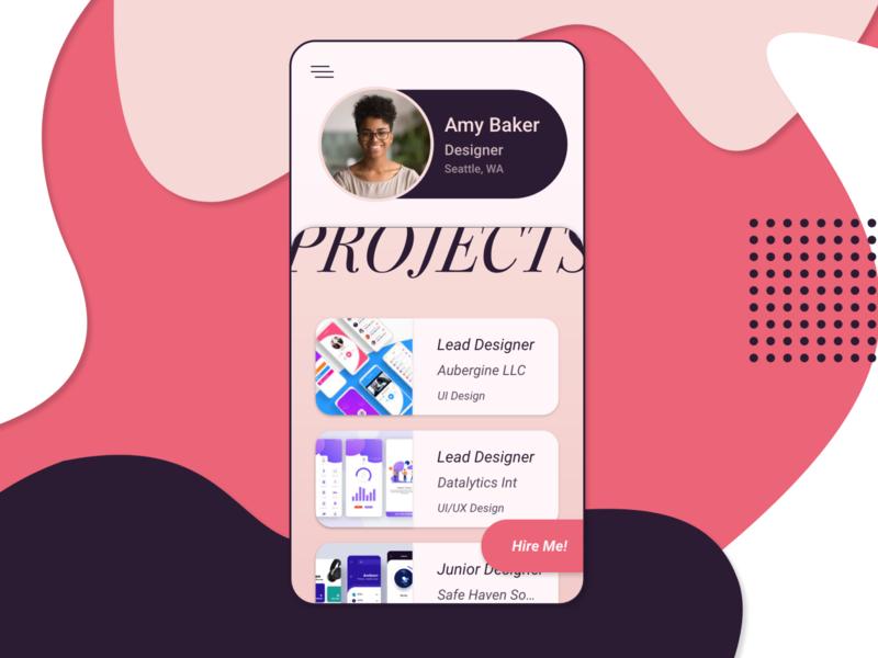 Daily UI Challenge Day 6 / User Profile freelance user profile user profile design uidesign ux uiux daily ui dailyui daily ui career