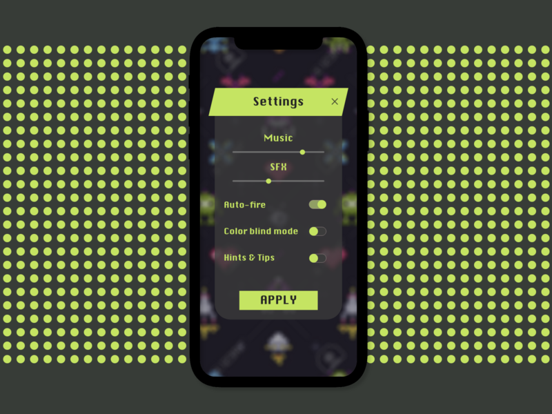 Daily UI Challenge Day 7 / Settings dailyuichallenge ui settings ui daily ui dailyui daily accessibility settings pixel retro game gaming