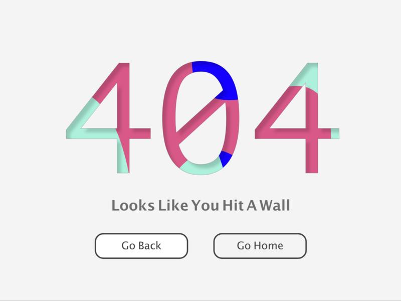 Daily UI Challenge Day 8 / 404 web 404 error 404 page ui daily ui dailyui daily 404
