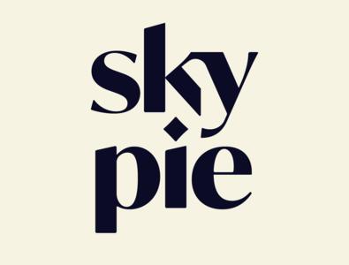 Sky Pie brand design branding brand serif type logo design illustrator typeface type design custom type customtype typography logo