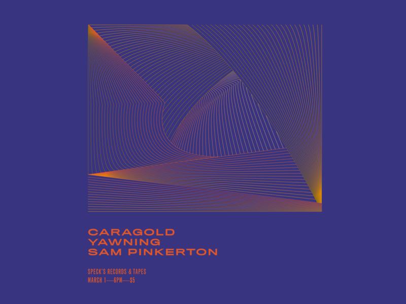 Yawning color palette minimal design illustrator linework line blend vector drawing texture music art music gig poster