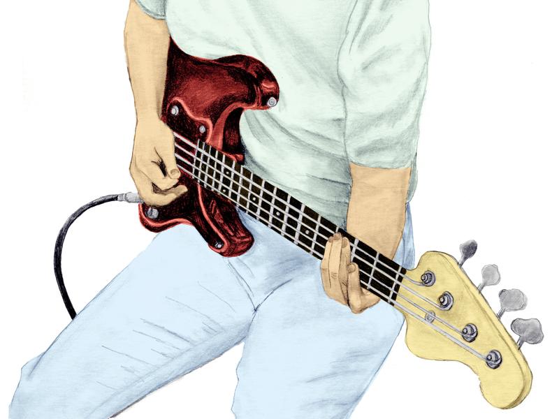 Carol Kaye she can really lay it down book music editorial illustration illustrative shading bass guitar bass carol kaye digital photoshop graphite portraiture guitar guitarist portrait illustration