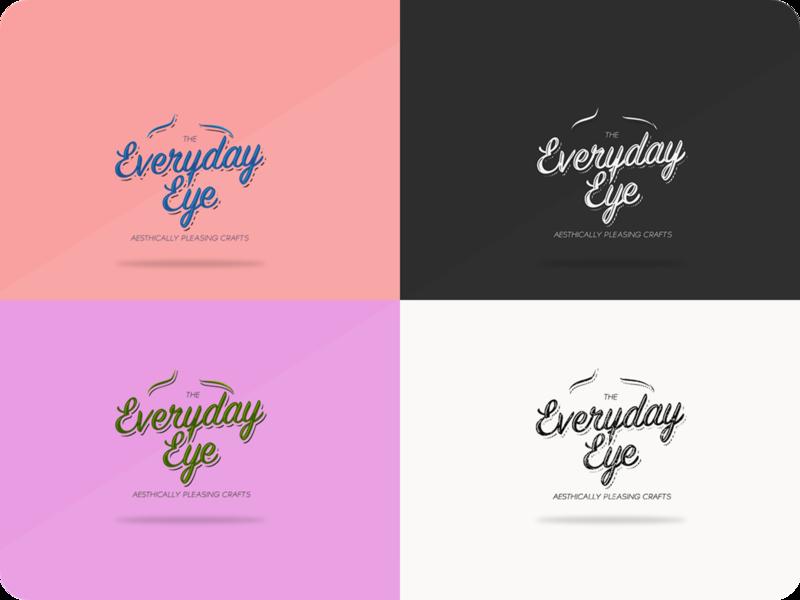 The Everyday Eye - Logo Concept lettering type illustration illustrator website branding web typography logo design