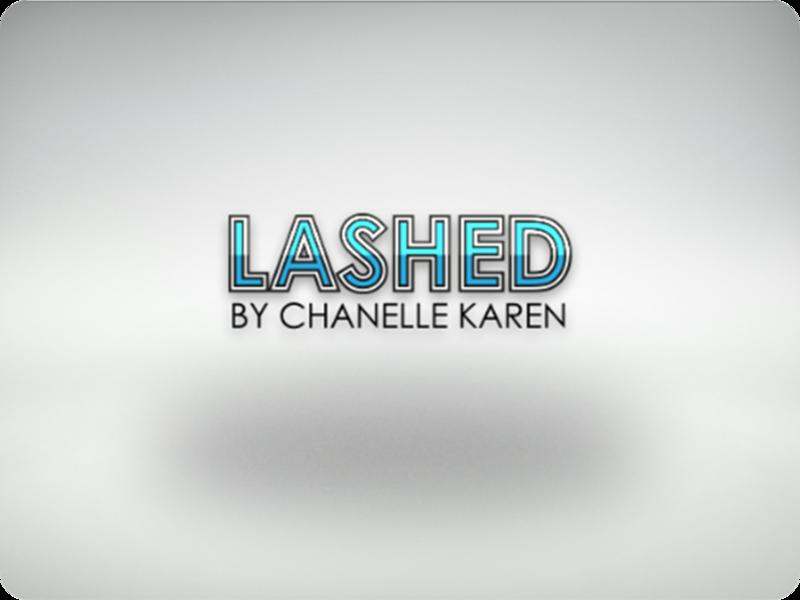 Lashed By Chanelle Karen - Logo Concept icon art type branding digital vector lettering typography logo