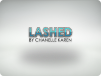 Lashed By Chanelle Karen - Logo Concept icon art type branding digital vector lettering typography logo
