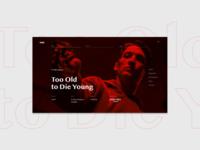 Nicolas Winding Refn Website Concept movies cinema film movie uiux ux ui webdesign website web