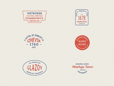 Vintage badges for cities and towns