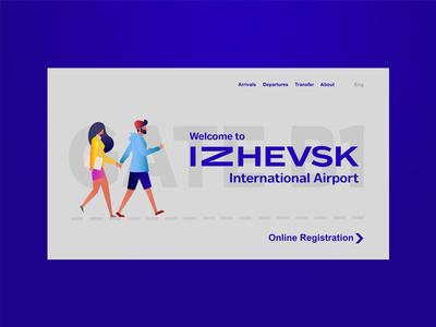 Izhevsk Airport | website concept