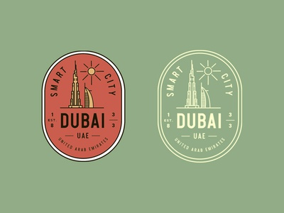 Dubai City Vintage Badges