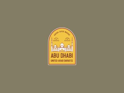 Abu Dhabi Vintage Badge