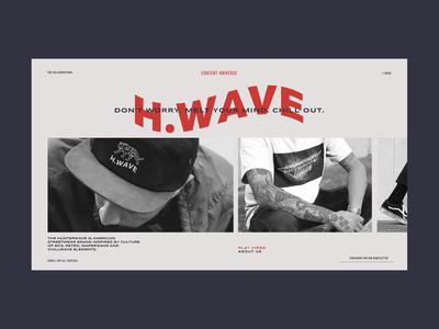 Hunterwave Streetwear Store Product Page