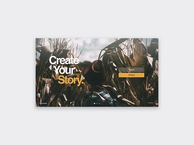 Create You Story | UI Design