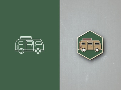Retro Van | Enamel Pin
