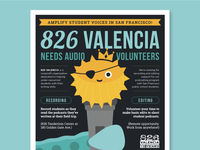 826 Audio Volunteer Poster