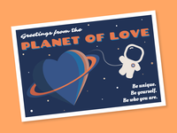 Planet of Love Postcard