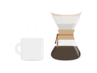 Chemex and Mug caffeine mug coffee chemex illustration