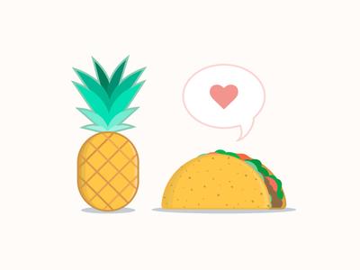 National Taco Day national taco day flat illustration illustration food love pineapple taco