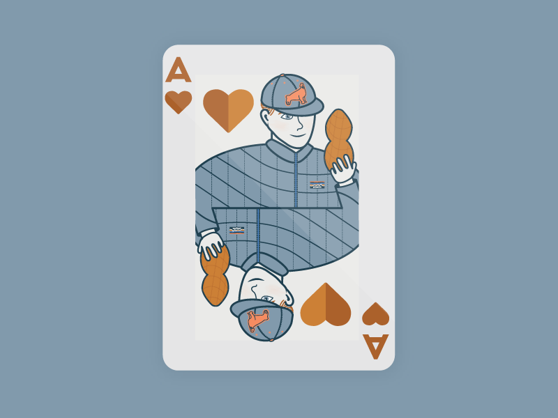 Adam of Hearts ace of hearts illustration cards playing card heart ace