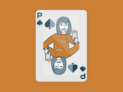Priscilla of Spades avatar illustration spades playing cards playing card