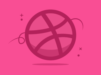 Dribble Icon - Reimagined simple sports basketball ball minimal pink minimalart dribbleartist dribble