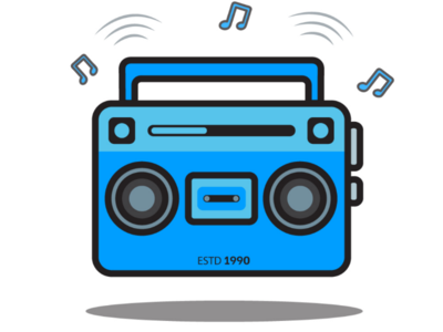 Retro Radio artwork art blueart blue minimal design music spotify