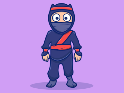 Clumsy Ninja design characterdesign character cartooncharacter cartoonistic cartoon vector vectorart