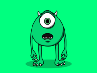 Monsters Inc. characters characterdesign vector character dribbleartist dribble monster