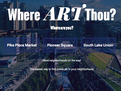Where Art Thou Website website travel ux design user experience responsive web design ui