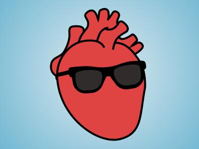 I Heart You humor anatomy heart design illustration