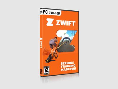 PC Game Concept Design - Zwift design cyclist packaging design app pc game packaging cycling zwift game case graphic design
