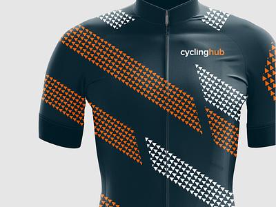 Cycling Kit Design - CyclingHub logo design graphic design branding cyclists cyclist cycling kit cycling