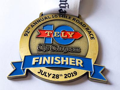 Tely 10 - Medal Design newfoundland triathlete marathon race run running medallions medals medal graphic design design athletics
