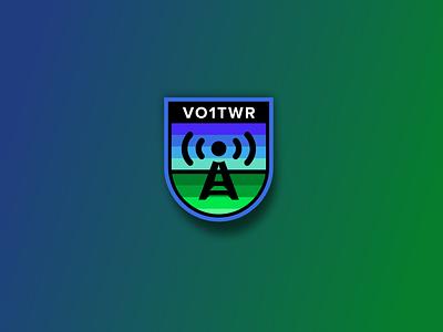 Call Sign Badge logo design logo ham radio graphicdesign dribbble badge logo badge amateur radio