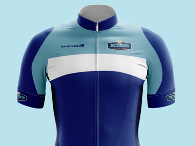 Cycling Kit Design - KISS Racing Team blues zwift sportswear racing jersey mockup jersey cycling kit cycling athletics branding blue bible