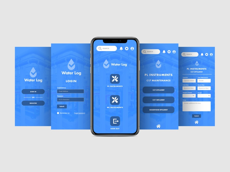 Water Log Mobile Application productivity productivity app adobexd ui ux product design mobile uiux mobile concept uxdesign uidesign ui  ux