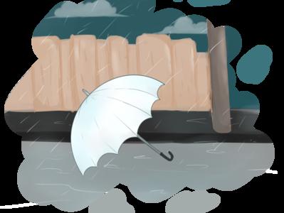 rain drawingart drawing design umbrella rain illustraion